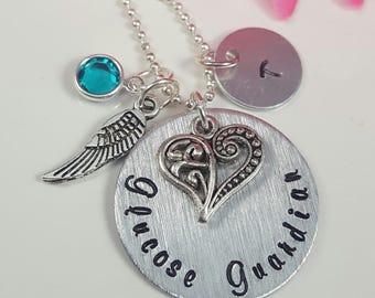 Medical Necklace TYPE 1 DIABETES Medical Alert Necklace Hand Stamped Personalized Medical Necklace Glucose Guardian Necklace
