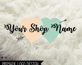 14. Premade Logo Digital File 300dpi PNG file, personalized with your shop name