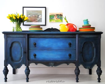 Two tone refinished sideboard!