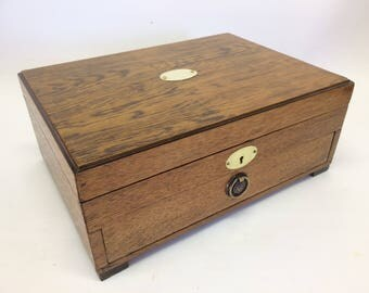 English Oak Up-cycled cutlery box