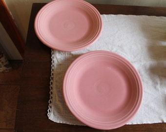 Fiestaware rose dinner plates