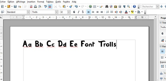 Knitting Fonts For Mac : Trolls font real otf and ttf to install compatible pc
