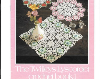 Twileys lyscordet crochet book 1 - vintage crochet booklet for the home - 10 designs to make