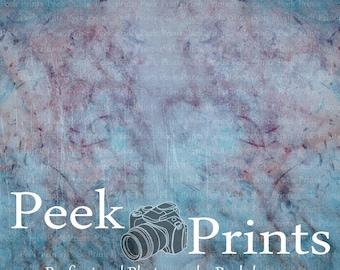 "Vinyl Photography Backdrops 5ft.x5ft. Marbled Color - Marble - Originally Hand Drawn- Print - Purple - Blue - ""Bleak"""