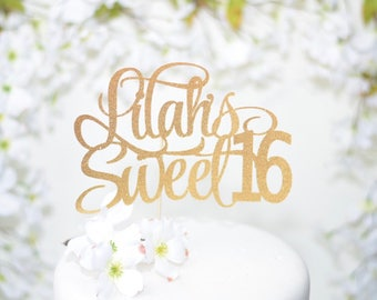 Personalized Sweet 16 Cake topper