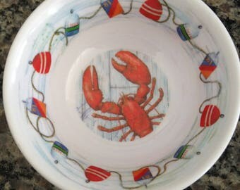 Melamine Ware Lobster Bowl