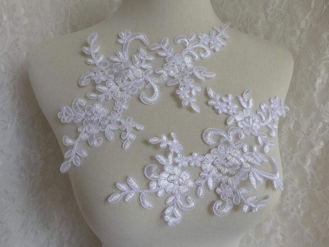 White lace applique bridal veils applique wedding applique lace