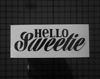 Doctor Who Decal - River Song - Hello Sweetie Design - 16 colors & Multiple Sizes