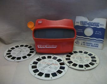 Vintage 3-D View-Master Viewer and 3 Reels of Rome Italy Stereo Pictures Roman Forum -  Rome -  and -  Vatican City