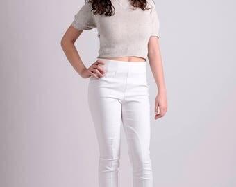 Off-white elastic high waist pants/leggings LIMITED EDITION