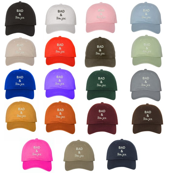 BAD & BOUJEE Dad Hat, Baseball Hat Low Profile Embroidered Baseball Caps, Dad Hats, Baddie, Multiple Colors