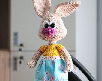 Crochet Bunny Pattern - Zoe, the shy bunny - Crochet Pattern for Bunny Rabbit