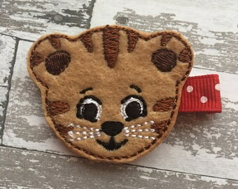 Daniel Tiger Hair Bow- Daniel Tiger Hair Bow- Daniel Tiger Birthday Party