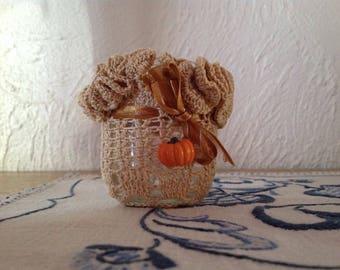 small candleholder fall deco handmade