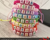 Special Offer, Kids Party Favours, Kids Name Bracelets, Personalised Kids Bands, Kids Party Bag Fillers, Party Favour, Macrame bracelets