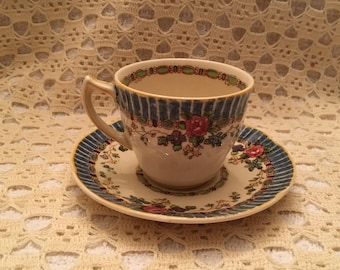 Royal Doulton The Vernon,  Demitasse Cup & Saucer, Royal Doulton , D5124, Tea Cups,  Demitasse, 1930s, England