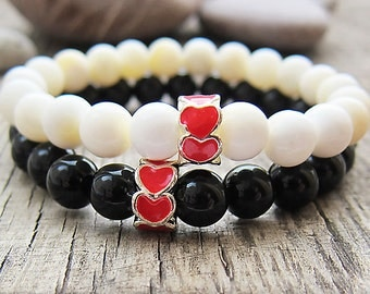 father's gifts best gifts for couples his and hers gifts for boyfriend matching couple bracelets heart bracelets relationship bracelets