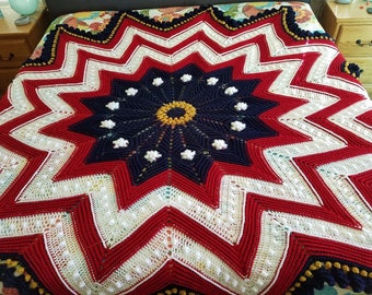 Patriotic Star Afghan
