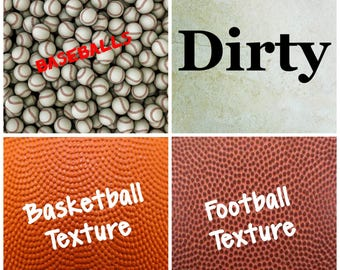 Sports Vinyl, Adhesive,  Outdoor 651 Vinyl, HTV Heat Transfer Vinyl, Iron On Vinyl. Baseball, Dirty Baseball, Basketball, Football