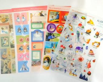 Alice's Adventures in Wonderland sticker (5 sheets)