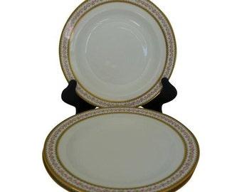 SALE! Vintage Set of 3  Soup Bowls CH Field Haviland GDA Limoges France