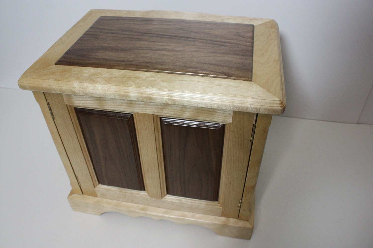 Large Handmade Wood Jewelry Box with Raised Panels