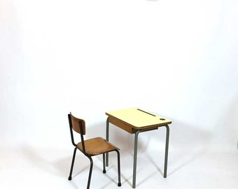 Child's desk and chair from the seventies.
