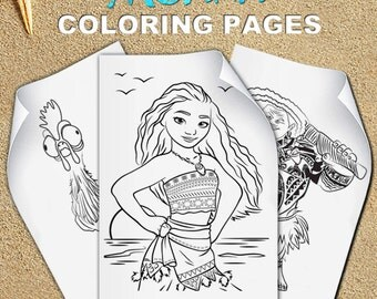 Moana Coloring Pages, Moana birthday, Moana party, Vaiana Coloring Pages