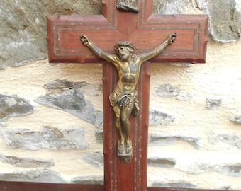 Vintage Large French Crucifix