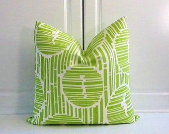 Trina Turk Decorative Pillow Cover-Bamboo Forest in Parrot Green-Indoor/Outdoor-18x18,20x20-Last Two!