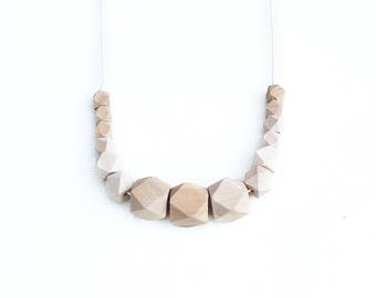 Geometrical - Wooden Beaded Necklace