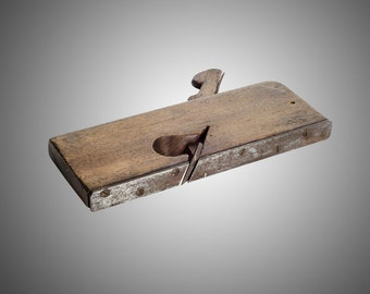 """Antique wooden molding plane with steel sole rabbet plane 11/16"""""""