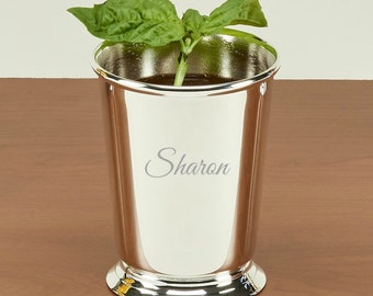mint julep cup 11 ounces silver plated gift for her groomsmen gift bridal shower gift
