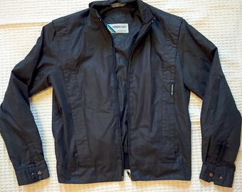 Vintage 80s Black Members Only Jacket EU Size 11/12 US Size 6