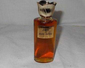 "Vintage ""Joy"" Perfume Tulip Top Bottle IB- 1 oz"