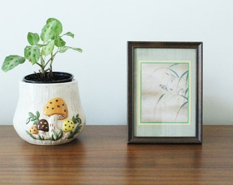 CLEARANCE // Vintage Asian Print in Wooden Frame
