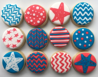 Stars and Stripes (and other designs!) Sugar Cookies - 1 Dozen