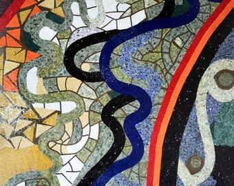 Abstract Mosaic Tile Patterns