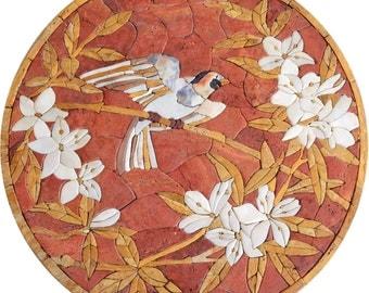 Singing Bird Stone Medallion