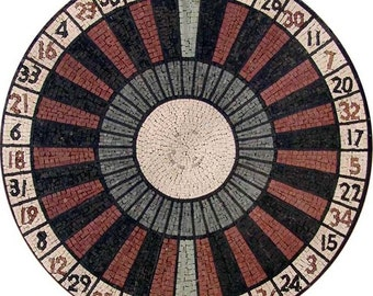 Roulette Mosaic Tile Patterns- The Gambler