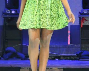 Green Dart Dress