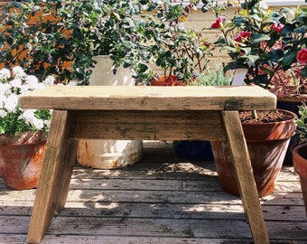 Rustic Scaffold Board Reclaimed Bench Stool Coffee Table