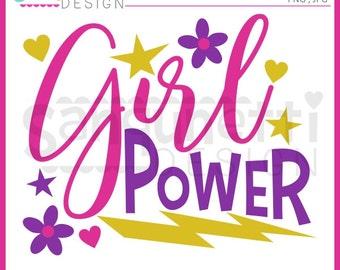 Girl Power Clipart, girl power lettering, lettering, girls clipart, girl clipart, Instant Download
