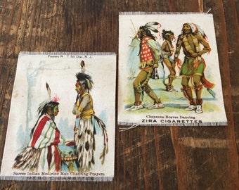 Antique Native American Tobacco Silks