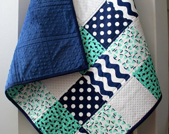 Homemade Quilts~Nautical Nursery Bedding~Baby Quilt~Whale Quilt~Baby Quilts Handmade~Baby Boy~Crib Quilt~Toddler Bedding~Nautical Baby