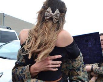 Military Marines MARPAT Desert Camo Nametape Bow