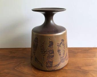 Huge Stoneware Designs West Mid Century Modern Pottery Vase
