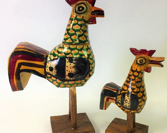 Wooden Painted Rooster GHL26/rooster/home decor/kitchen decor/wooden rooster/rooster decoration/gift/