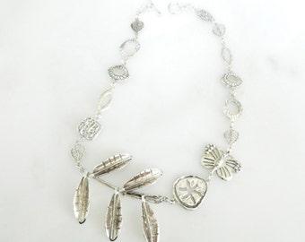 Esperanza Sterling Silver Large Vintage Mexico Necklace