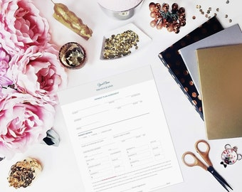 Photographer Payment Plan Form for Photography Business